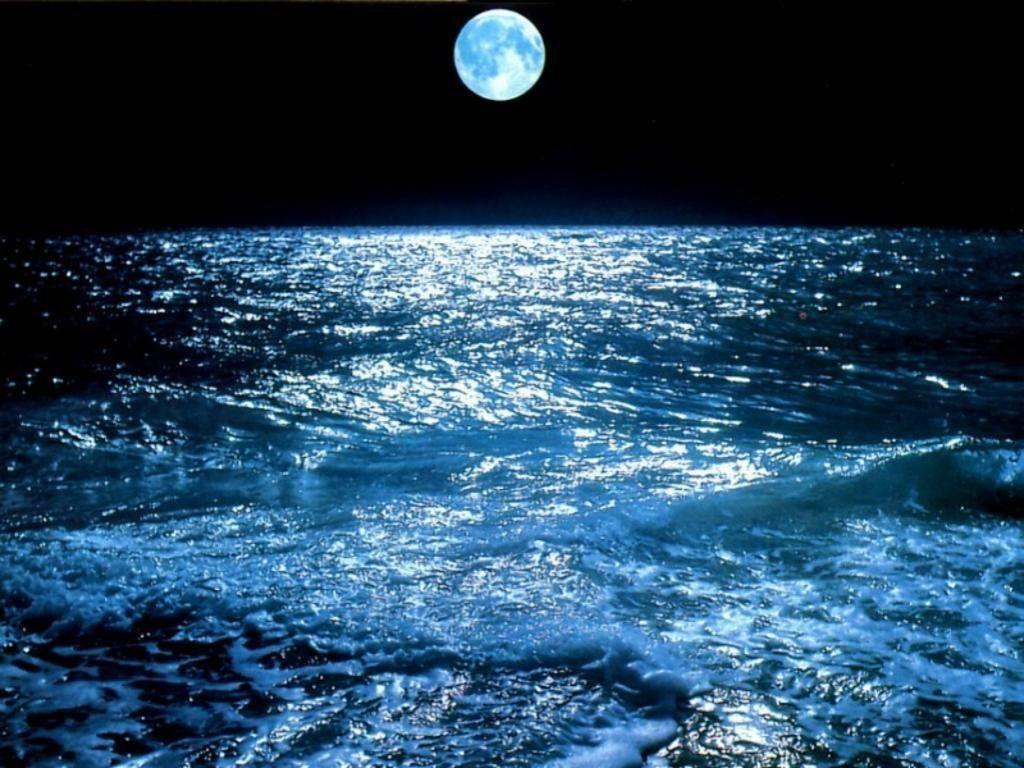 Fond D Ecran Mer Au Clair De Lune